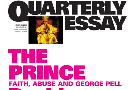 Cover of David Marr's quarterly essay 'The Prince: Faith, Abuse and George Pell' features Pell in bishop's raiment