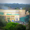 Smoke over Westgate shopping mall on 23 September 2013