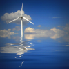 Wind power turbine in water