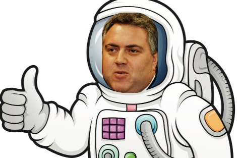 Astronaut with Joe Hockey's face