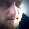 James McAvoy looking harried and angry in Filth
