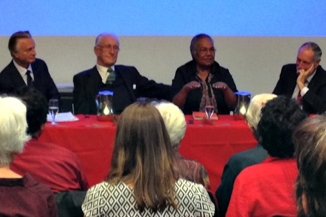 Malcolm Fraser, Rosalie Kunoth-Monks and Frank Vincent QC in conversation
