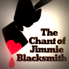 'The Chant of Jimmie Blacksmith' features a hand clutching a bloody axe