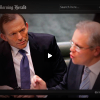 Tony Abbott and Scott Morrison in Parliament (Fairfax Media)