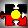Aboriginal flag jigsaw piece