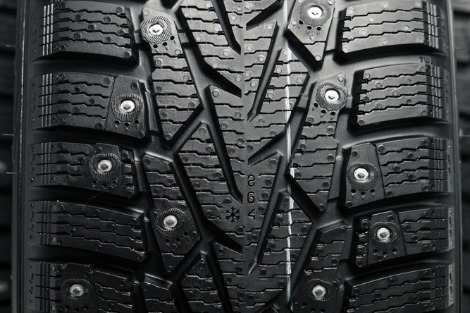 Car tyre, close-up of tread