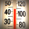 Thermometer tops 45 degrees celsius