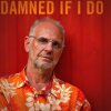 'Damned if I do' by Philip Nitschke features the doctor standing with arms folded