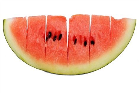 Slitted watermelon