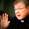 George Pell speaking, hand raised for emphasis