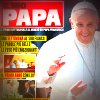 Pope Francis smiling on the cover of Il Mio Papa