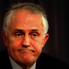 Malcolm Turnbull looking glum
