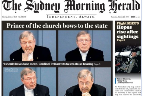 Cardinal Pell at the Royal Commission from Sydney Morning Herald