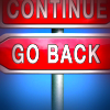 'Go back' sign