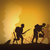 Soldiers silhouette