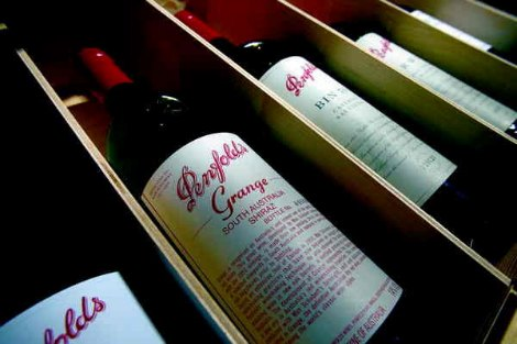 Bottles of Penfolds Grange