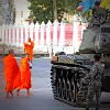 Tank and monks in Thai coup