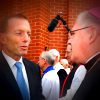 Tony Abbott greets Archbishop Mark Coleridge