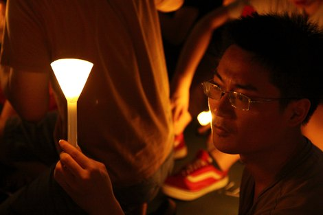 Candlelight commemoration of Tiananmen massacre