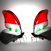 Butterflies with Syria and Iraq flags on their wings