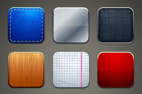 Blank app icons