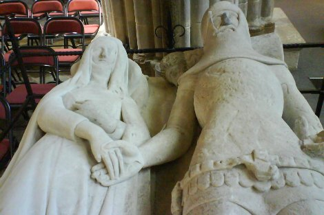 Detail of Arundel Tomb in Chichester Cathedral