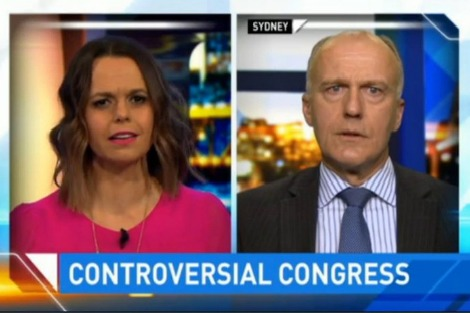 Eric Abetz and Mia Freedman