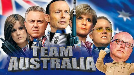 Team Australia parody graphic