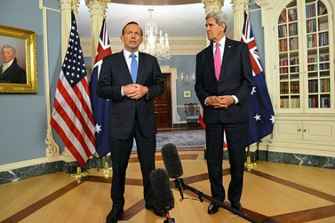 Aus PM with US State Secretary John Kerry