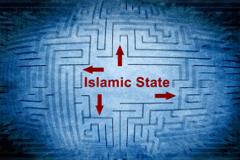 Islamic State maze graphic