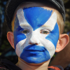 Child with Scotland face-paint