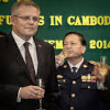 Cambodia's Deputy Prime Minister and Minister of Interior Sar Kheng and Australian Immigration Minister Scott Morrison