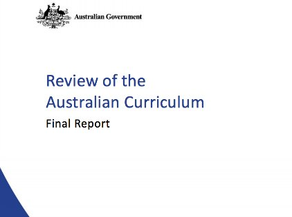 Cover of Curriculum Review