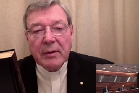 Cardinal George Pell video link to Royal Commission from Rome