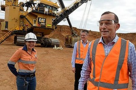 Tony Abbott inspects coal mine