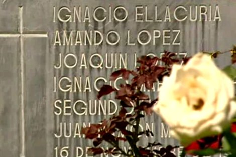 Memorial to slain El Salvador Jesuits