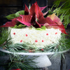 Naively decorated Christmas cake