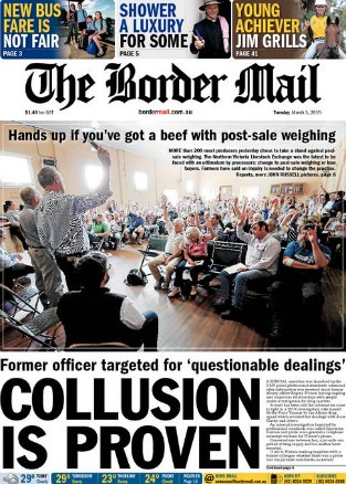 Border Mail front page