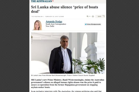 Article Sri Lanka abuse silence 'price of boats deal'