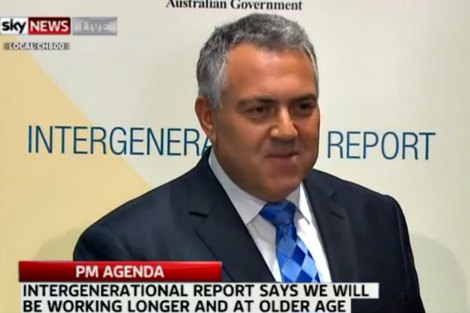 Joe Hockey delivers the Intergenerational Report