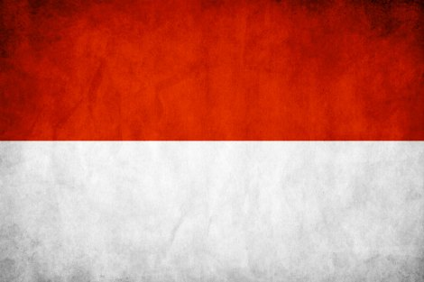 Stained Indonesian flag
