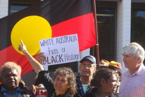 Indigenous Australians protest rally