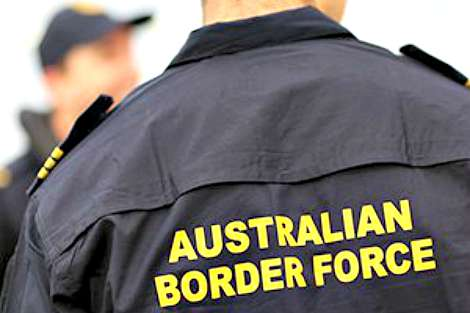 Australian Border Force officer from behind
