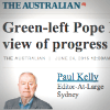 'Green-left Pope Francis endorses flawed view of progress' op-ed