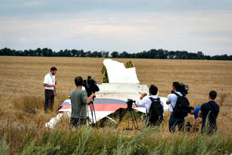 MH17 wreckage