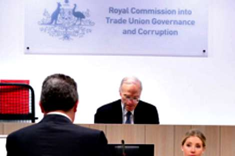 Dyson Heydon in session at unions royal commission