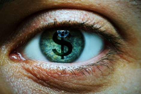 Eye with dollar sign