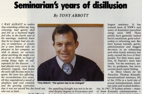 Tony Abbott's 1987 essay in the Bulletin