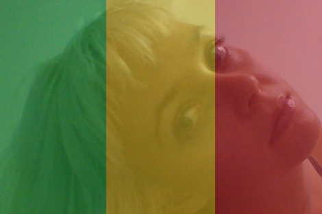 Ellena Savage with Mali flag overlay