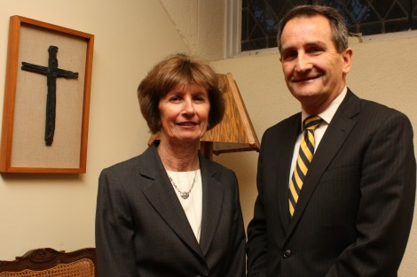 Dr Kathleen McChesney with Truth, Justice and Healing Council CEO Francis Sullivan